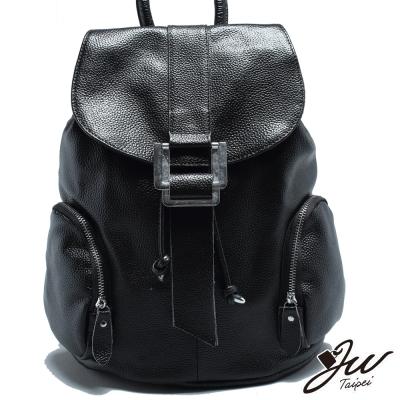 JW-真皮時尚雙側袋多功能後背包-共七色