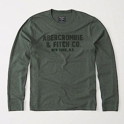 AF a&f Abercrombie & Fitch 長T 綠色 0457