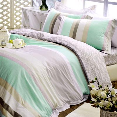 義大利La Belle 清境樂活 雙人天絲八件式兩用被床罩組