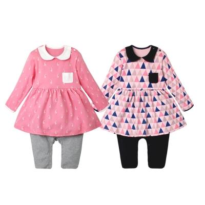 baby童衣 圓領長袖假兩件洋裝連身衣 70058
