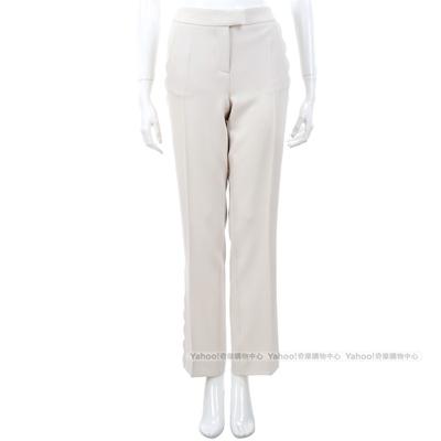 MOSCHINO 米白色立體滾邊造型設計九分褲