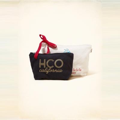 HCO Hollister 海鷗 個性塗鴉拉鍊收納袋-黑白色