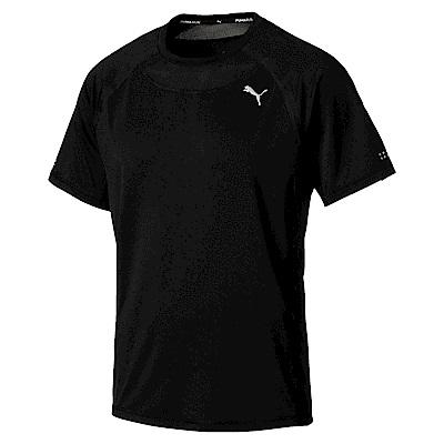 PUMA-男性慢跑系列SPEED短袖T恤-黑色-歐規