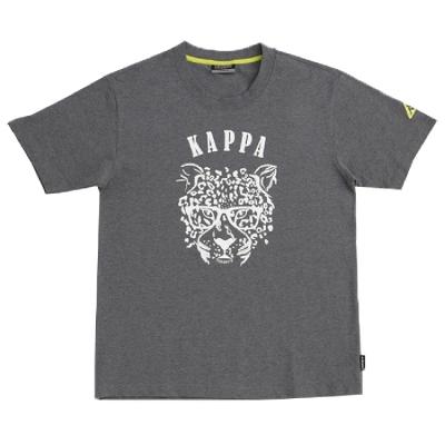KAPPA 義大利時尚BESTDRY吸濕排汗型男彩色短袖衫~新中灰