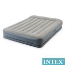 INTEX舒適雙層內建電動幫浦充氣床墊fiber tech有頭枕-寬152cm_64117