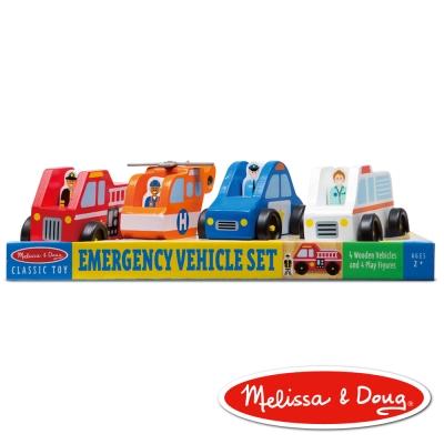 美國瑪莉莎 Melissa & Doug 木製交通工具 - 緊急救援小隊