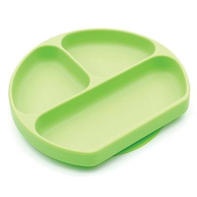 【美國Bumkins】寶寶分格矽膠餐盤_綠BKGD-GRN