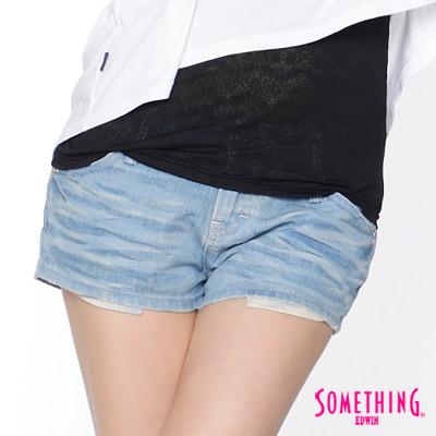 SOMETHING 清新丹寧 NEO超短色褲-女款(天空藍)