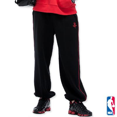 NBA-休士頓火箭隊繡花棉質長褲-黑(男)