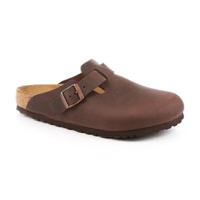 勃肯BIRKENSTOCK 860131。波斯頓 包頭拖鞋(古樸褐色)