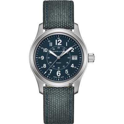 Hamilton 漢米爾頓 Khaki Field卡其野戰手錶-藍/38mm