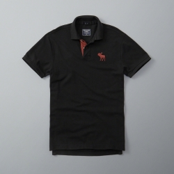 AF a&f Abercrombie & Fitch 短袖 POLO 黑色 187