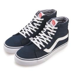 (男)VANS SK8-Hi 潮流素色休閒高筒休閒鞋*藍色