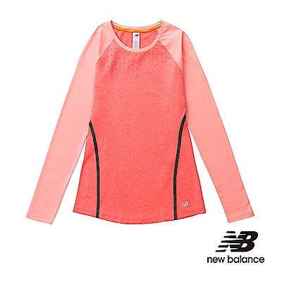 New Balacne FLEX 機能長袖T恤 WT61101DFH女性粉橘