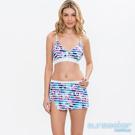 澳洲Sunseeker泳裝時尚條紋花朵三件式比基尼