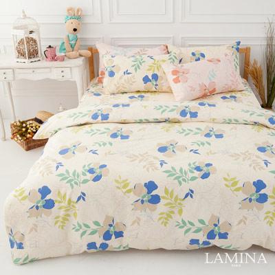 LAMINA  香草天空-藍   雙人四件式純棉床包被套組