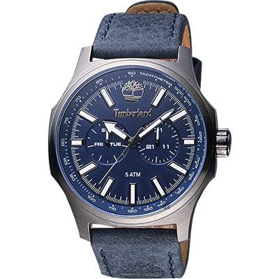 Timberland Shermand 休閒日曆腕錶-藍/46mm