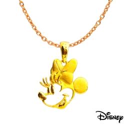 Disney迪士尼系列金飾 黃金墜子-童話美妮款 送項鍊