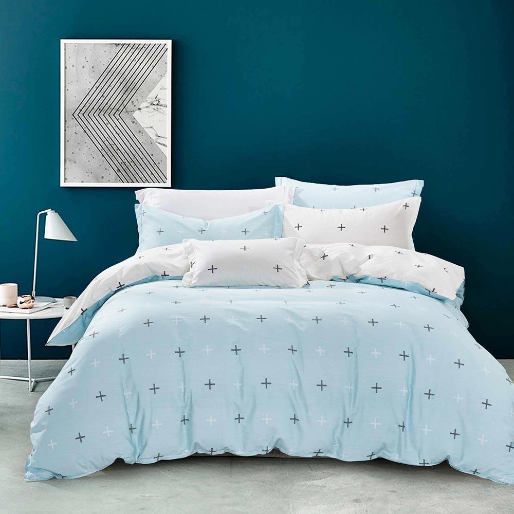 Ania Casa北歐星空 雙人三件式 100%精梳棉 台灣製 床包枕套純棉三件組