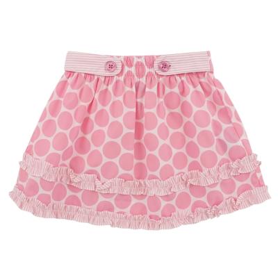 愛的世界 MYBABY 純棉鬆緊帶圓點荷葉邊短裙/2~4歲