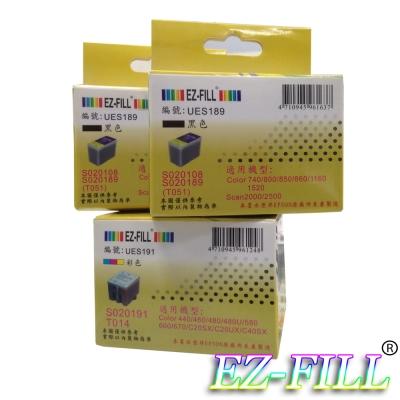 EZ-FILL EPSON 189 +191 相容墨匣2黑1彩