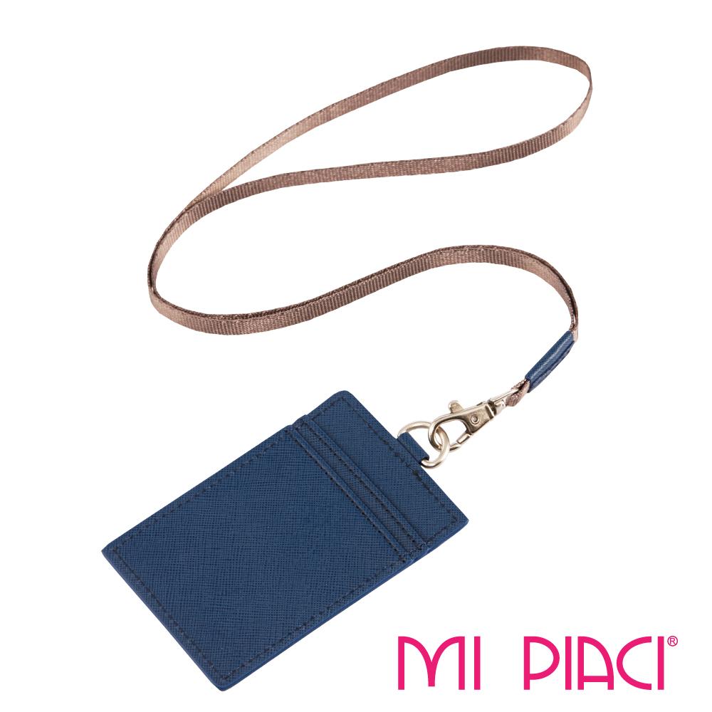 MI PIACI-證件套/識別證套(皮款)-直式-海軍藍1086319