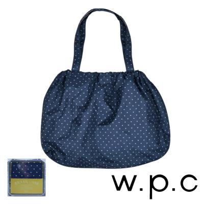 w.p.c 時尚包包的雨衣 束口防雨袋 (深藍點點)