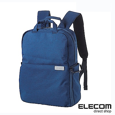 ELECOM 帆布多功能後背包S035(L)-藍