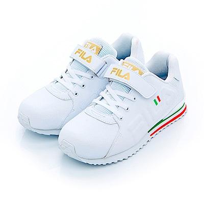 FILA KIDS大童EVA經典慢跑鞋-白3-J410S-129