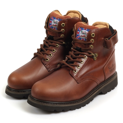 Kai Shin 高筒安全工作鞋 深咖色