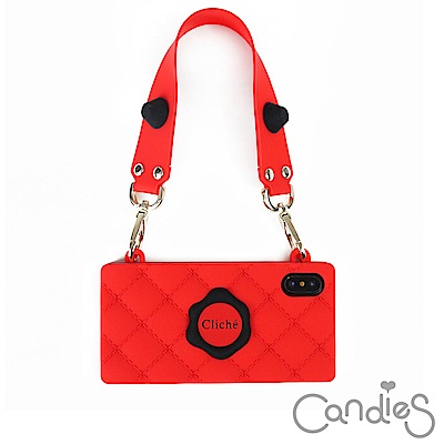 Candies Happy Strap Cliche晚宴包(紅) iPhone ...