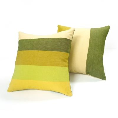 布安於室-色塊抱枕超值2入(含枕心)-黃綠色系
