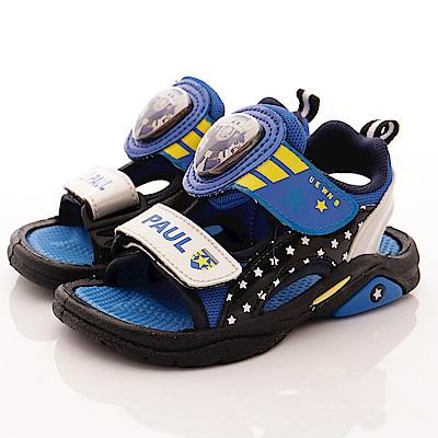 SUPER WINGS 保羅LED電燈涼鞋款 EI3810黑(中小童段)