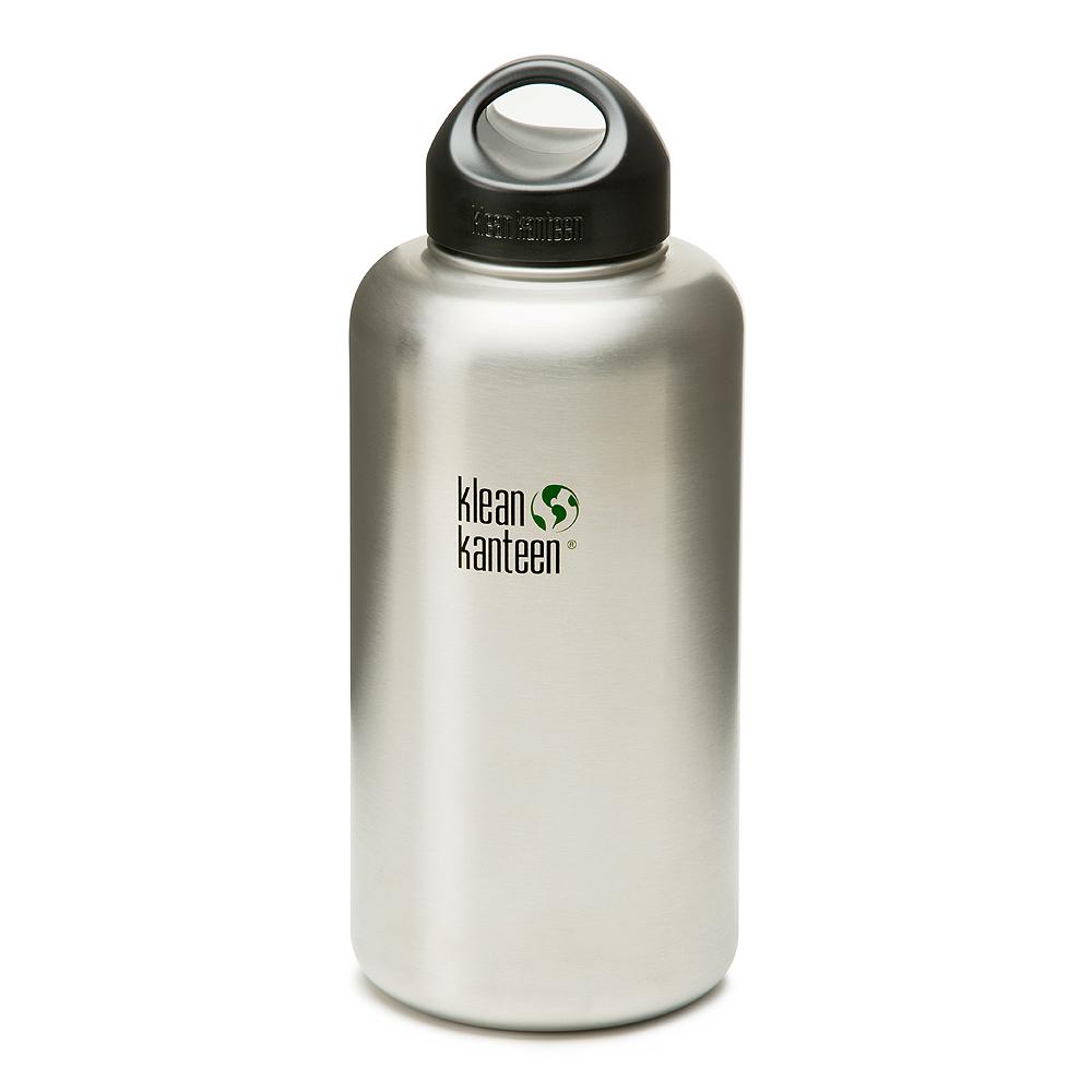 美國Klean Kanteen可利寬口鋼瓶1900ml-原色鋼