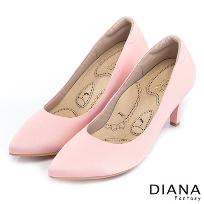 DIANA 漫步雲端布朗尼H款--輕彈舒適OL制鞋-粉