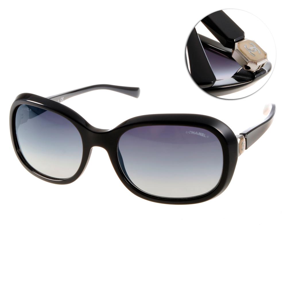 Chanel太陽眼鏡 名媛LOGO款/黑#CN5286 C501S6