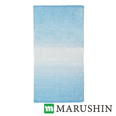 日本丸真 今治保濕美肌漸層浴巾-淡藍