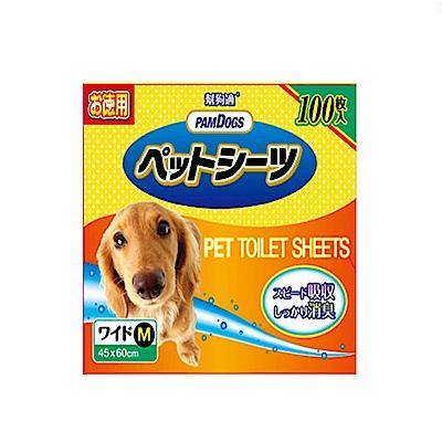 【PamDogs幫狗適】寵物除臭尿布/尿墊增量包100片 M-60X45cm