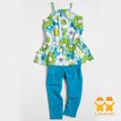 【LOVEDO-艾唯多童裝】繽紛亮麗花朵  兩件組套裝(藍)