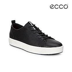 ECCO SOFT 8 MEN'S 簡約休閒鞋-黑