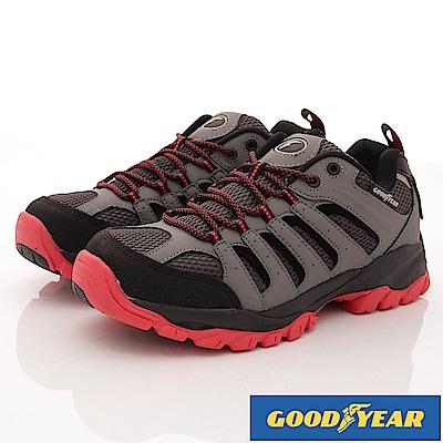 GOODYEAR-靜態防水戶外鞋-EI3438灰紅(男段)