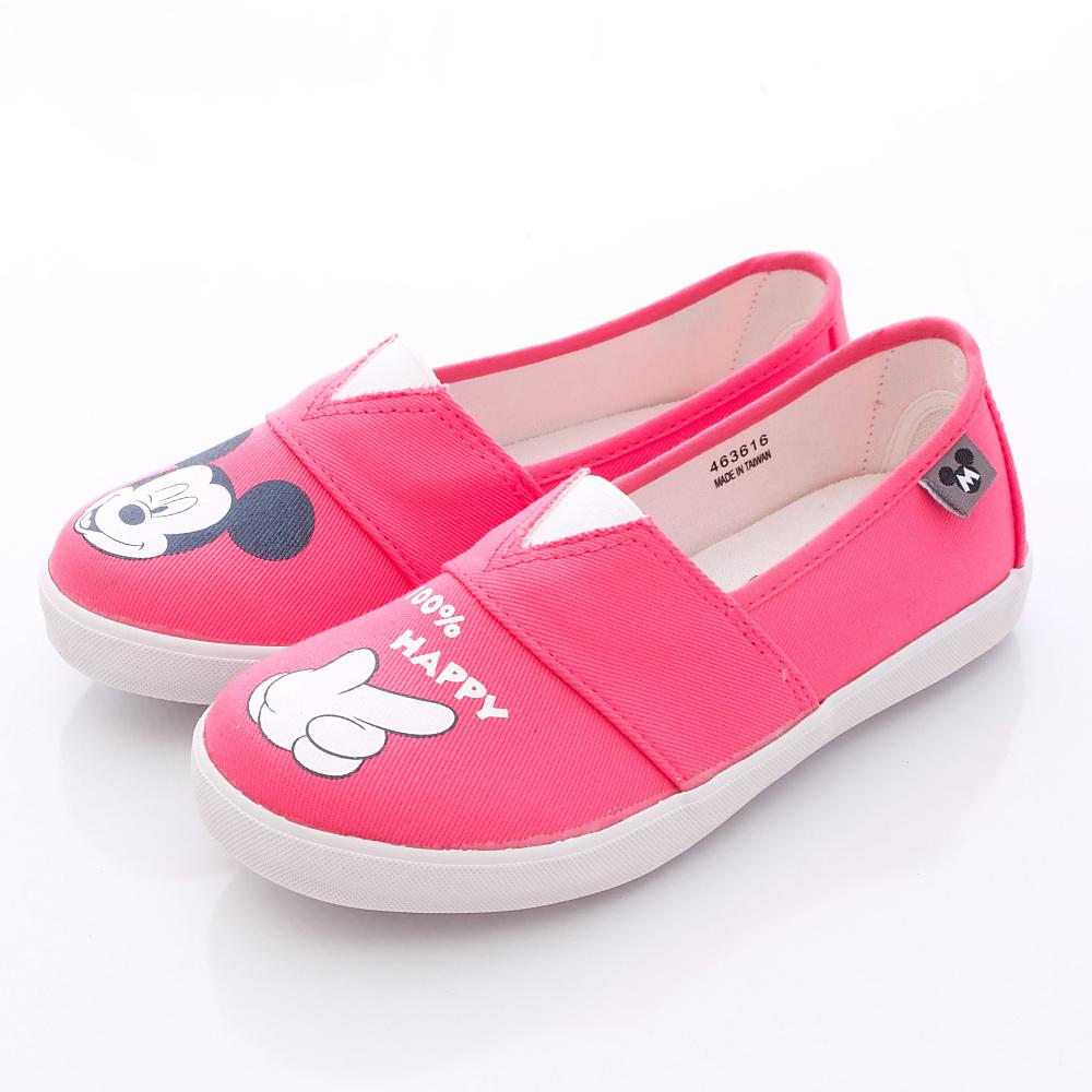 迪士尼童鞋-100%HAPPY休閒款-FO63616桃(中大童段)HN