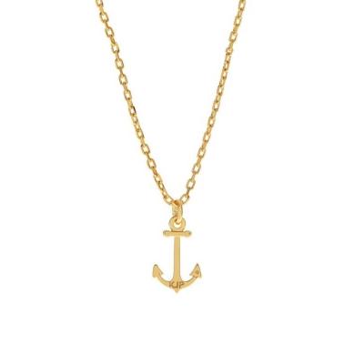 Kiel James Patrick 美國手工船錨COASTAL CHARM 魅力金色項鍊