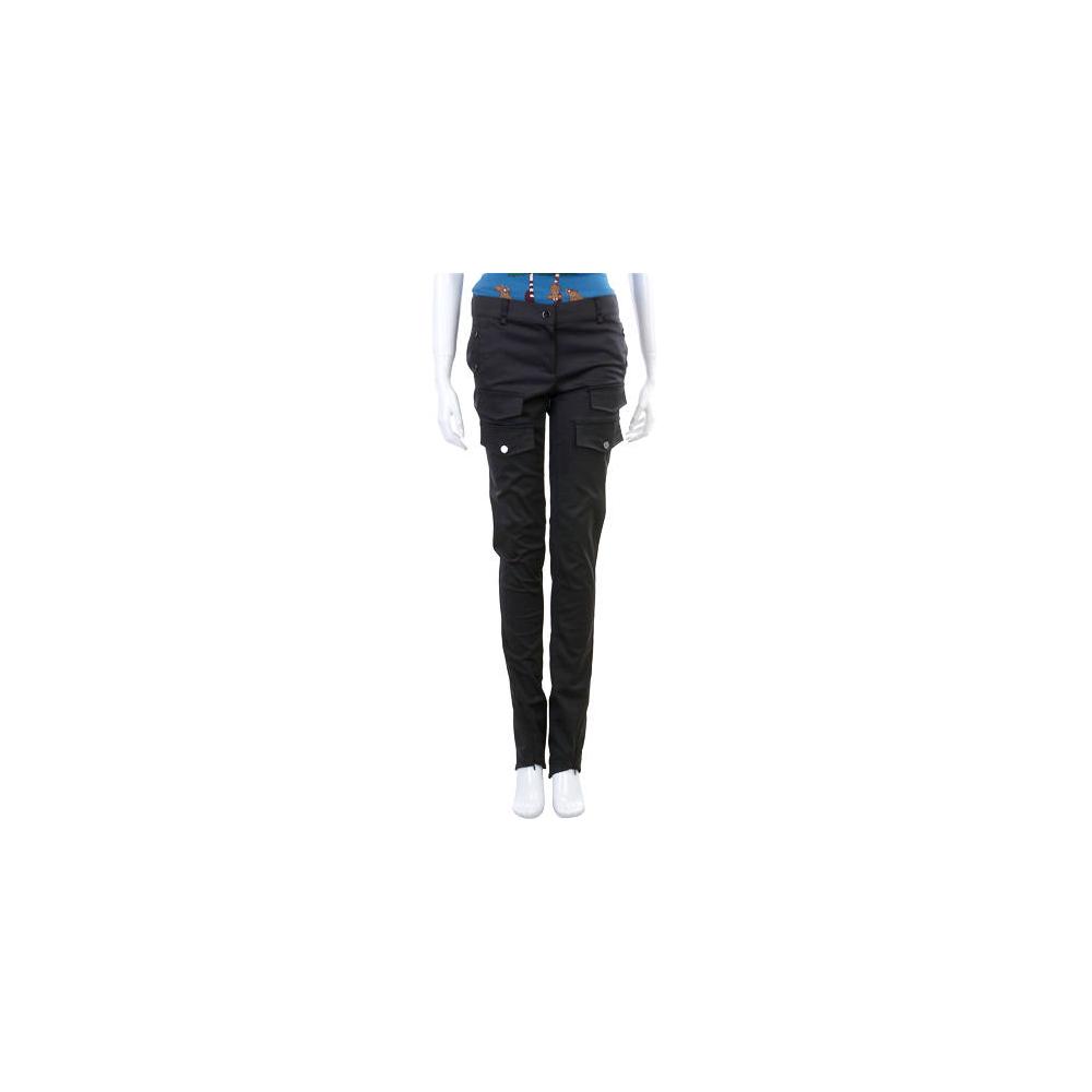 PAOLA FRANI 深咖啡色口袋造型直筒長褲
