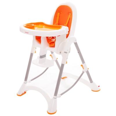 myheart 折疊式兒童安全餐椅 - 甜甜橘