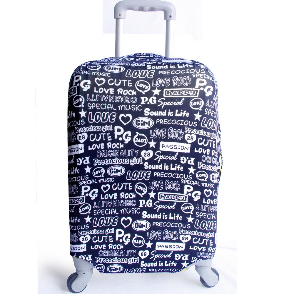 黑色ROCK-28吋行李箱防污保護套一個(26-30吋行李箱適用)