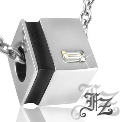FZ  典藏甜蜜白鋼項鍊(黑)
