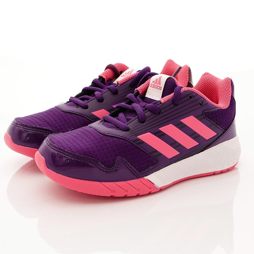 adidas童鞋-針織慢跑款-YEI942桃紫(中大童段)T