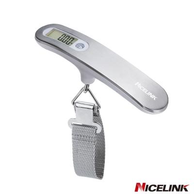 NICELINK 耐司林克數位行李秤-時尚金屬銀 YW-S013