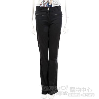 CLASS roberto cavalli 黑色編織造型拉鍊口袋款長褲